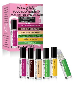 Naughty Roll On Perfume Oil Blending Pack, Sex On The Beach, Dark Chocolate, Champagne Brut, Spicy Pineapple Salsa, Piña Colada, Poison Ivy