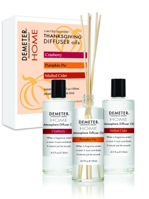 Thanksgiving Reed Diffuser Set - Cranberry, Pumpkin Pie, Mulled Cider