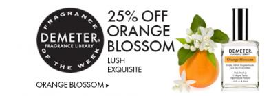 Fragrance Of The Week = 25% Off Orange Bloosom Scent