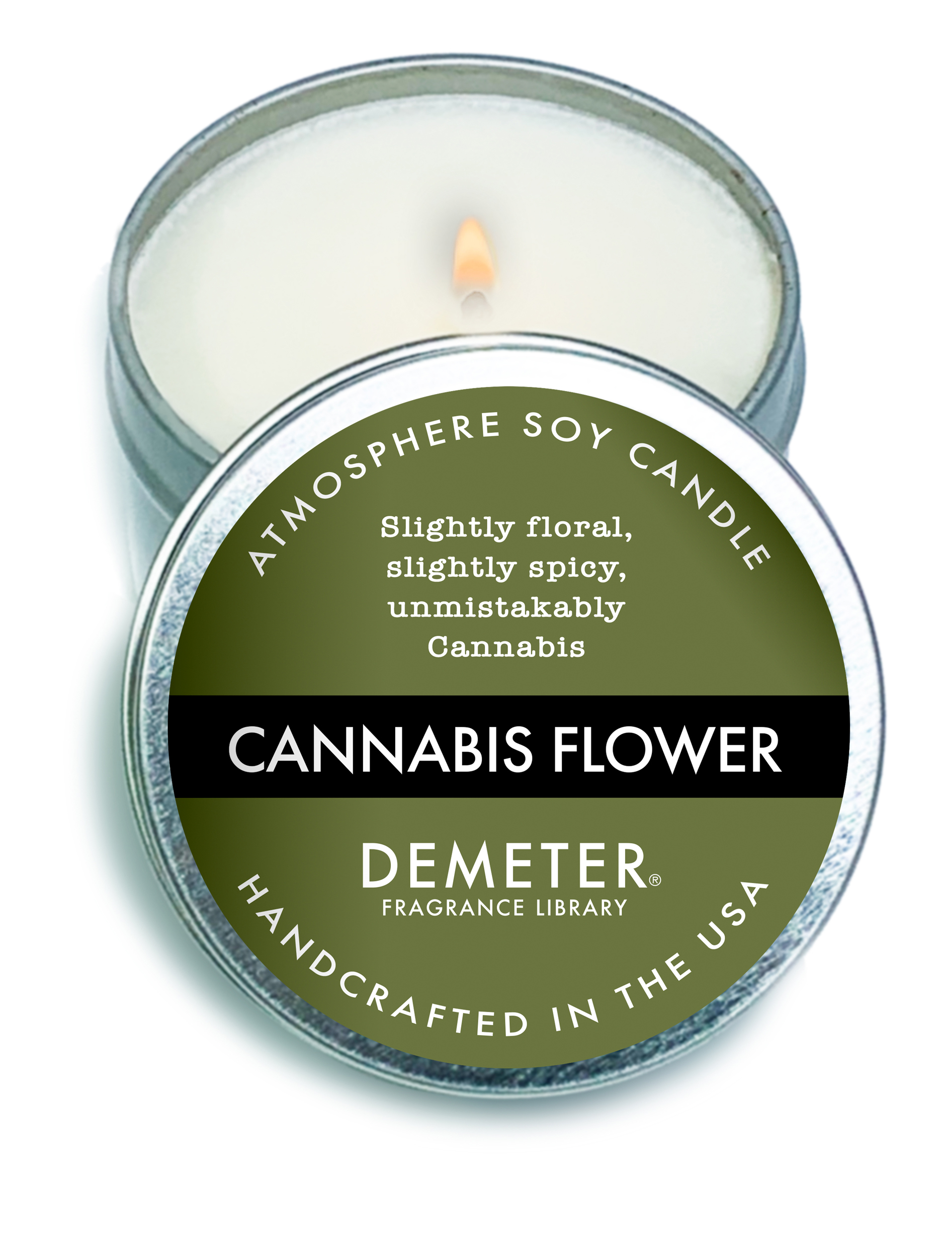 Cannabis Flower Candle